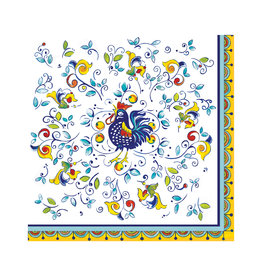 """Le Cadeaux Le Cadeaux Dinner Napkins 7"""" (Florence/Rooster)"""