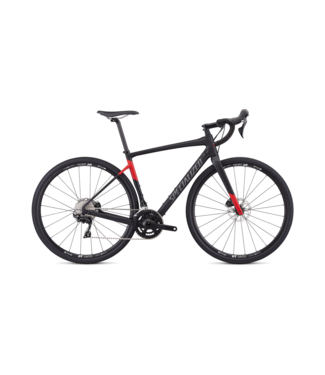 SPECIALIZED DIVERGE MEN SPORT - Satin Tarmac Black/Flo Red 56