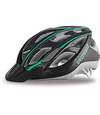 SPECIALIZED DUET MIPS HELMET WMN - Black/Emerald Green .