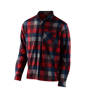 Troy Lee Designs GRIND FLANNEL; PLAID RED 2X