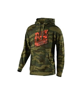 TROY LEE DESIGN BLOCK PARTY PULLOVER; FOREST CAMO