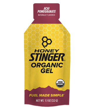 HONEY STINGER Organic, Energy Gel, Box of 24, Acai & Pomegranate