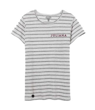 JULIANA Stripe Shirt GREY