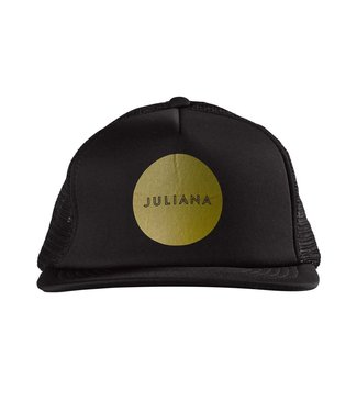 JULIANA Circle Trucker Hat Black