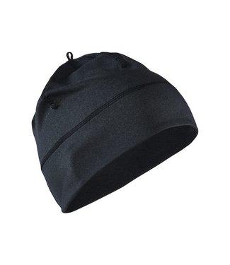 CRAFT REPEAT HAT BLACK MELANGE ONE
