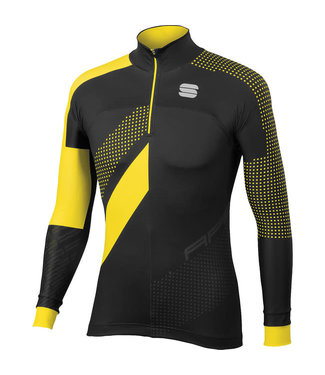 SPORTFUL APEX TOP BLACK/YELLOW FLUO LG