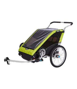 THULE Chariot Cheetah XT 2 + Cycle/Stroll Chartreuse