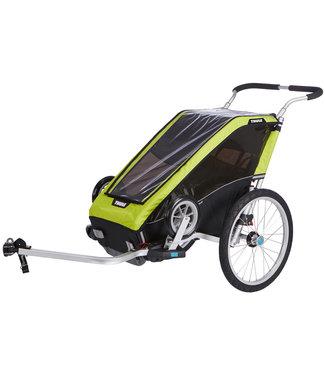 THULE Chariot Cheetah XT 1 + Cycle/Stroll Chartreuse