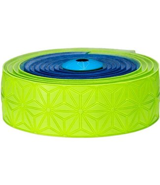 SUPACAZ Supacaz Super Sticky Kush Handlebar Tape, Multi Colour Neon Blue and Neon Yellow /set