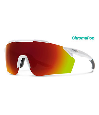 SMITH OPTICS RUCKUS MATTE WHITE CHROMAPOP RED MIRROR