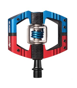 CRANKBROTHERS Mallet E Long Spindle - Red / Blue USA