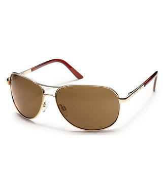 SUNCLOUD AVIATOR GOLD POLARIZED BROWN POLYCARBONATE