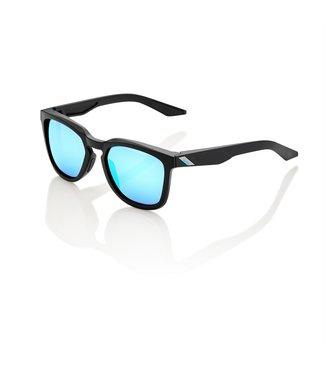 100% HUDSON - Matte Black - Hiper Blue Multilayer Mirror