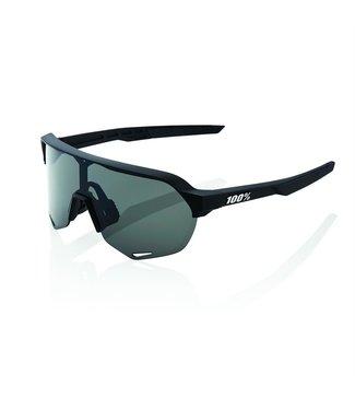 100% S2 - Soft Tact Black - Smoke Lens