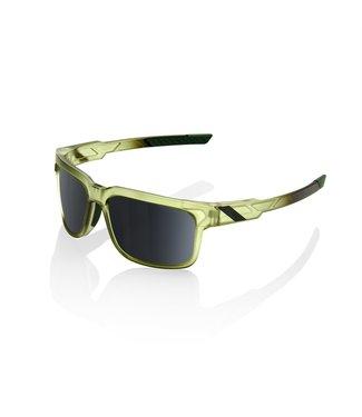 100% TYPE-S - Matte Translucent Olive Slate - Black Mirror lens