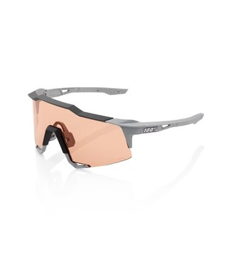 100% SP20 - SPEEDCRAFT - Soft Tact Stone Grey - Hiper Coral Lens