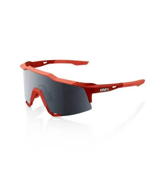 100% SP20 - SPEEDCRAFT - Soft Tact Coral - Black Mirror Lens