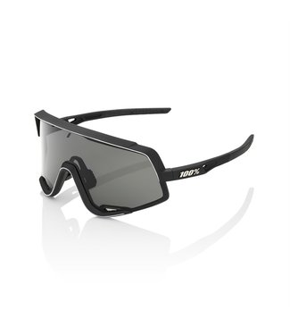 100% GLENDALE - Soft Tact Black - Smoke Lens