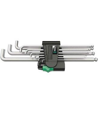 WERA TOOLS Tools Hex Plus 4 Short L-Key Set, Chrome Plated