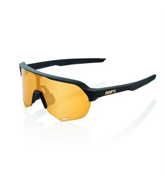 100 Percent S2 - Matte Black - Soft Gold Lens