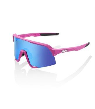 100 Percent S3 - Matte Pink - HiPER Blue Multilayer Mirror Lens