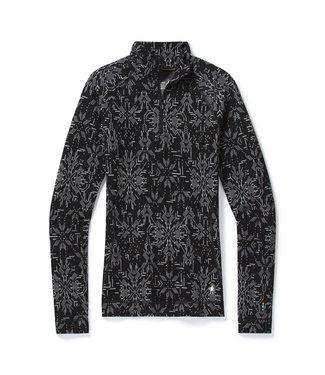 SMARTWOOL Vêtement de base à demi-glissière et motif Merino 250 Fem/Flocon noir