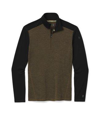 SMARTWOOL Vêtement de base à demi-glissière Merino 250  hommes /Chiné olive militaire-Noir