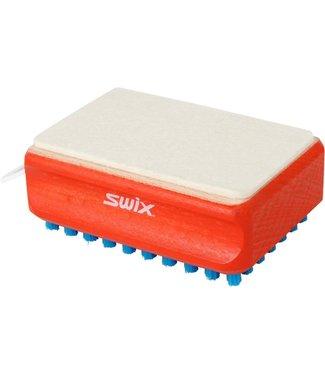 SWIX RectangularF4 Combi Brush (Felt and Blue Nylon)