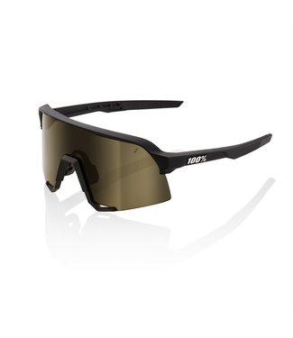 100% S3 - Soft Tact Black - Soft Gold Lens