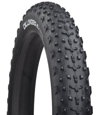 45NRTH 45NRTH Dillinger 4 Tire - 27.5 x 4, Tubeless, Folding, Black, 60tpi, 252 Carbide Steel Studs