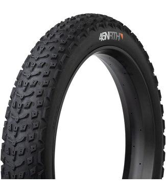 45NRTH 45NRTH Dillinger 5 Tire - 26 x 4.6, Tubeless, Folding, Black, 120tpi, Studdable