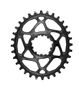 ABSOLUTE BLACK Oval Direct Mount Chainring - 30t, SRAM 3-Bolt Direct Mount, 3mm Offset, Requires Hyperglide+ Chain, Black