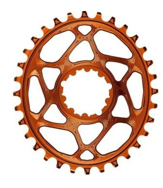 ABSOLUTE BLACK Oval Narrow-Wide Direct Mount Chainring - 28t, SRAM 3-Bolt Direct Mount, 3mm Offset, Gold