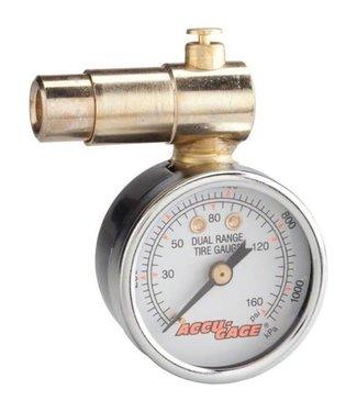 MEISER Meiser Presta-Valve Dial Gauge with Pressure Relief: 160psi