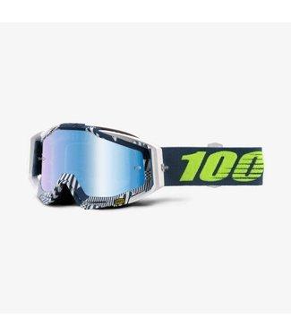 100% Racecraft Goggles Eclipse, Mirror Blue Lens