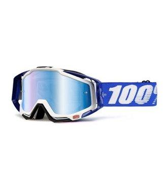 100% Racecraft Goggles, Cobalt Blue, Mirror Blue Lens
