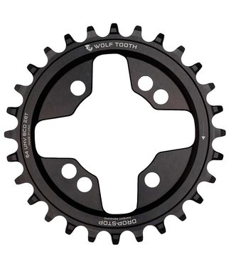 WOLF TOOTH COMPONENTS BCD 64mm Universal, Chainring, Teeth: 28, Speed: 9-12, BCD: 64, Bolts: 4, Inner, Aluminum, Black
