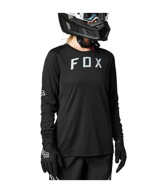 FOX Womens Defend Long Sleeve Jersey BLACK L