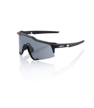 100% 100% SpeedCraft Sunglasses, Soft Tact Black frame - Smoke Lens