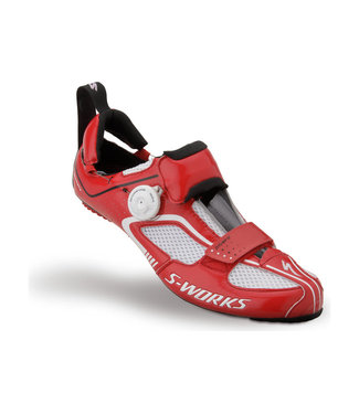 SPECIALIZED SW TRIVENT RD SHOE WHT/RED
