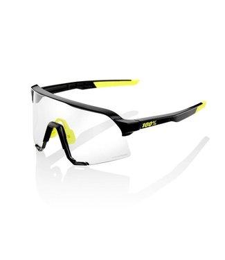 100% 3 Sunglasses, Gloss Black frame - Photochromic Lens