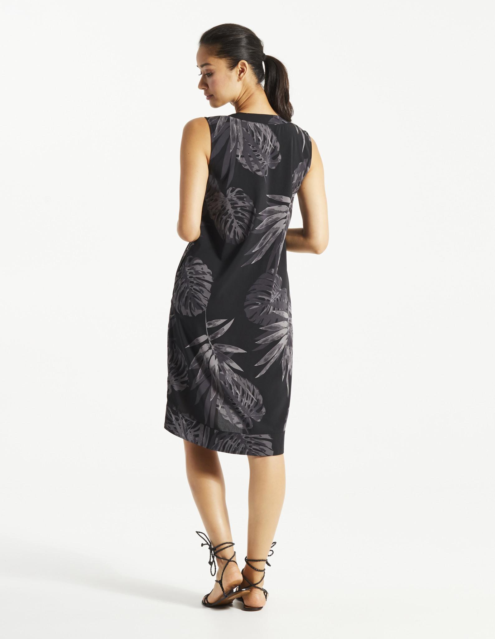 Pao Dress - Tropical Black