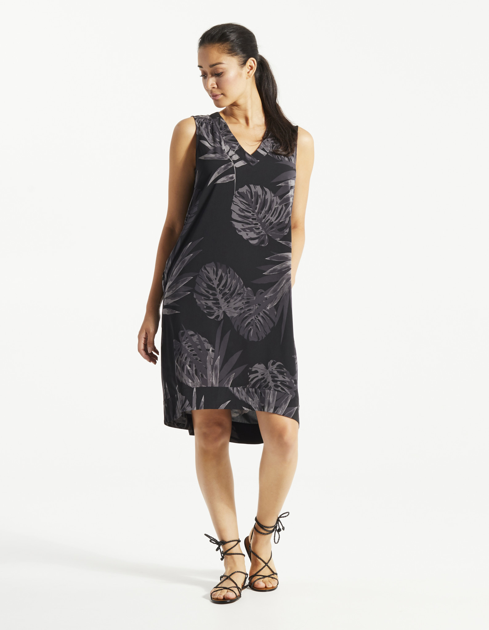 Fig Pao Dress - Tropical Black