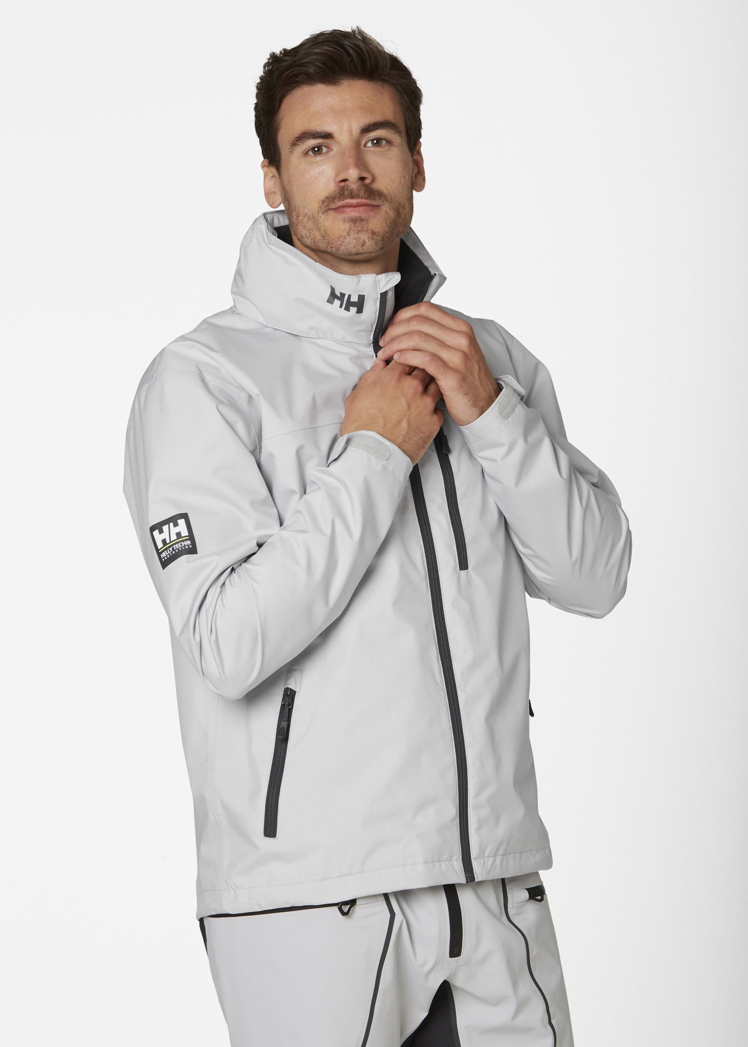 Crew Hooded Jacket - Grey Fog