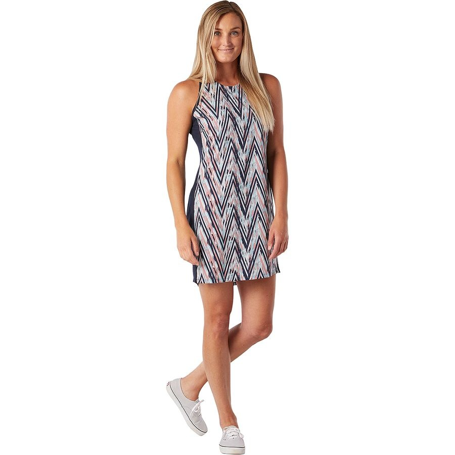 Smartwool Merino Sport Tank Dress  - CANYON ROSE ZIG ZAG PRINT