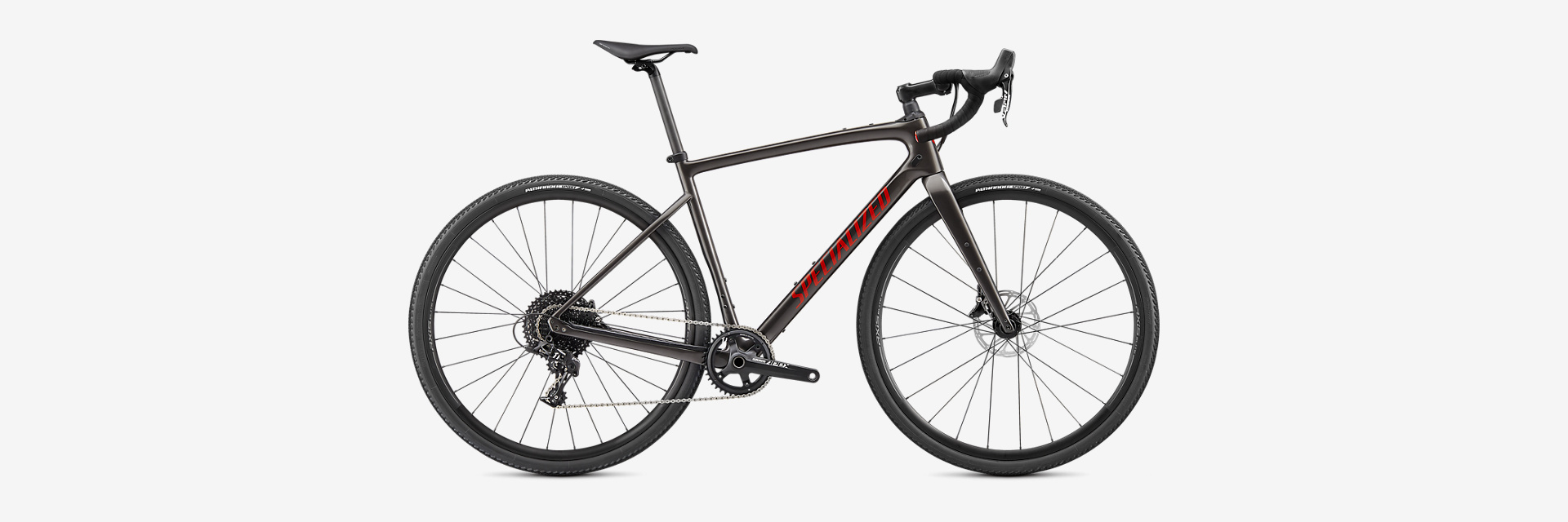 Specialized 20 Diverge Carbon, Smoke/Red 52