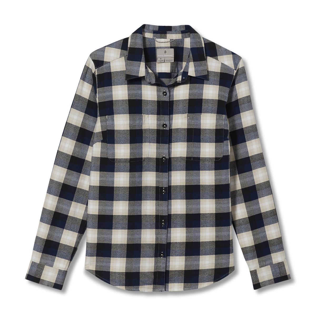 Royal Robbins Lieback Organic Cotton Flannel LS, Creme