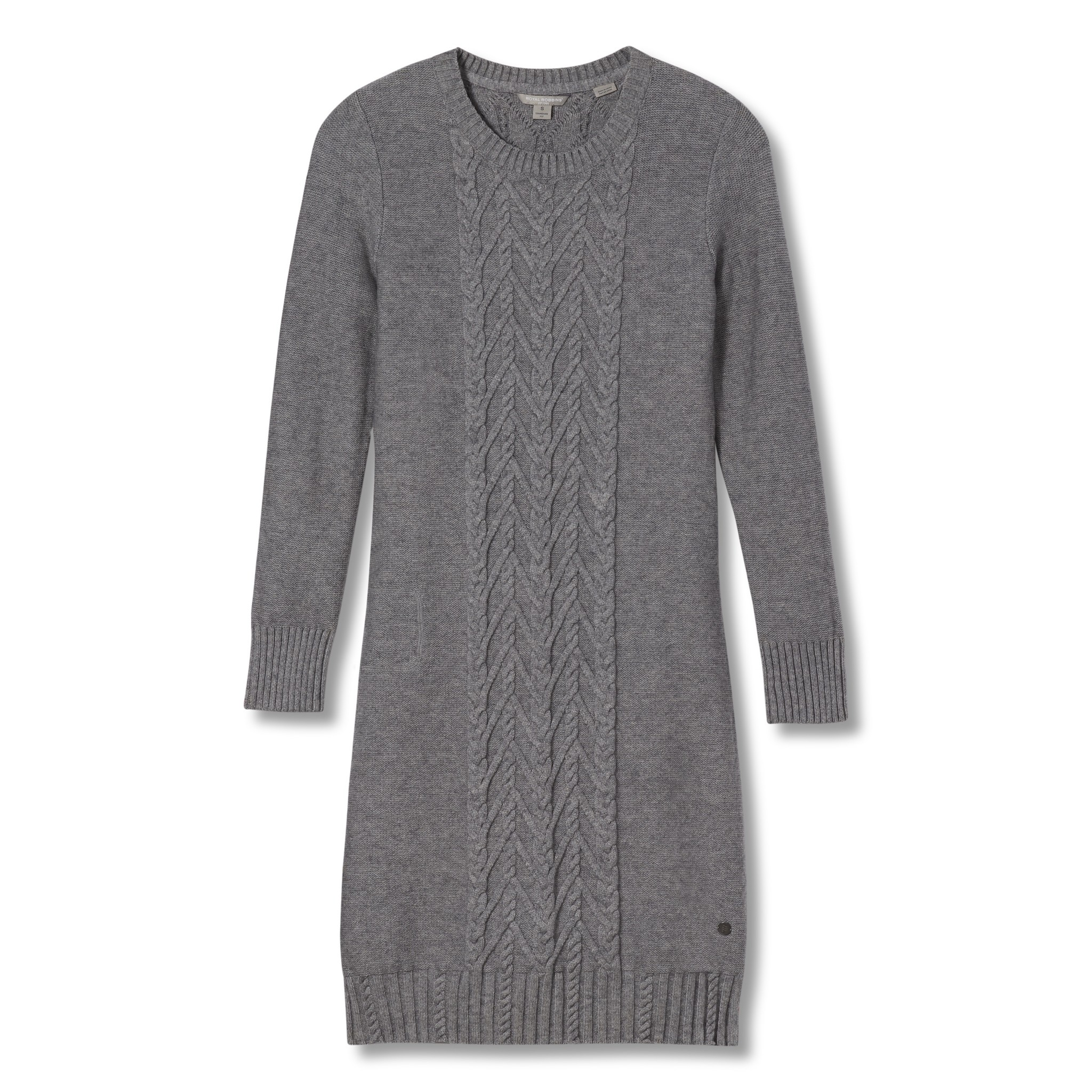 Frost Crew Neck Dress, Pewter Heather