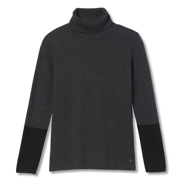 All Season Merino Turtleneck, Charcoal