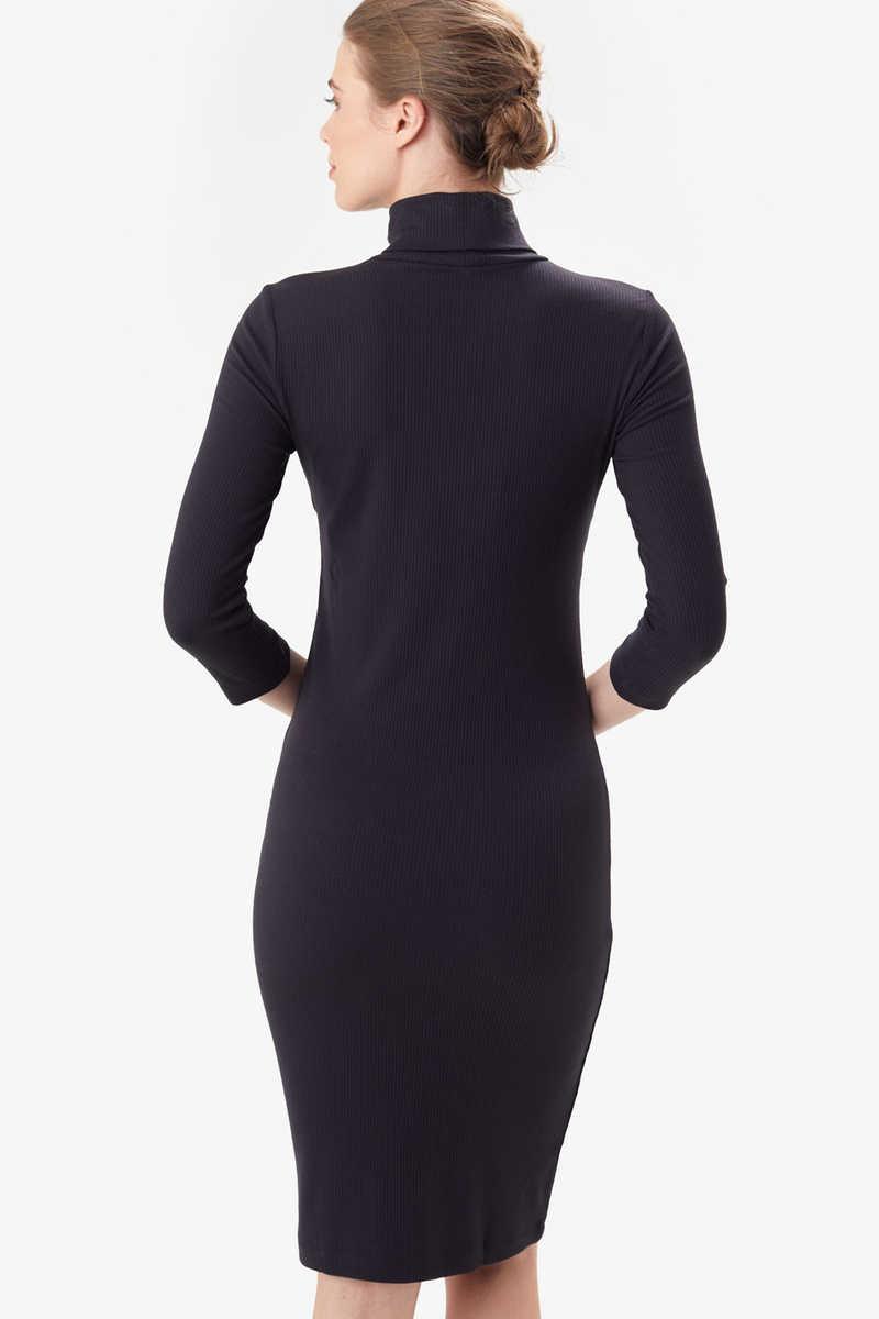 Villeray Turtleneck Dress, Black
